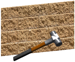 Hammer and wall